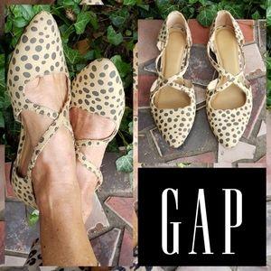 Gap Leopard Print Polka Dot Flats